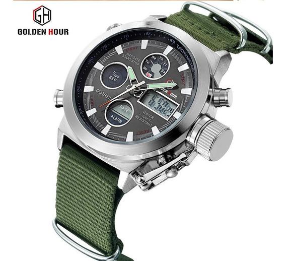 Relógio Esportivo Militar Luxo Promoção Últimas Unidades