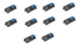 10 Unidades Módulo I2c Para Display Lcd 16x2 / 20x4 Arduino