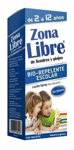 Zona Libre De Piojos Y Liendres Bio Repelente Escolar X 60ml
