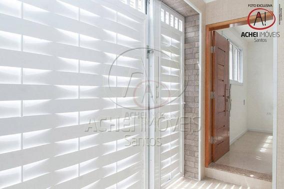 Casa Com 4 Dormitórios À Venda, 185 M² Por R$ 1.200.000,00 - Campo Grande - Santos/sp - Ca1612