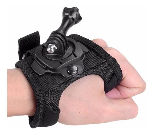 Luva Suporte Alça 360° Mão Pulso Gopro Go Pro Hero 3+ 4 5 Hd