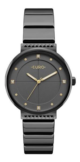 Relogio Euro Feminino Eu2035yob/4p Preto Analogico