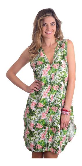 ad58c38c874f Vestido Estampado Tropical - Vestuario y Calzado en Mercado Libre Chile