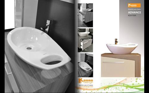 Muebles De Baño Kd Advance Nogal / Blanco Ciudad Ojeda