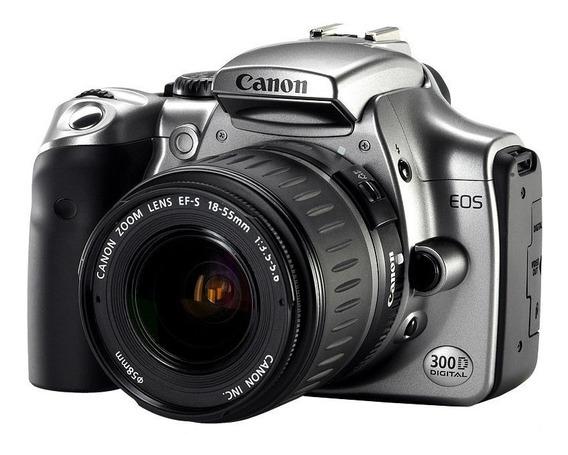 Canon Rebel Eos 300d 18/55, Teleobjetivo 75-300, 8gb, Bolso