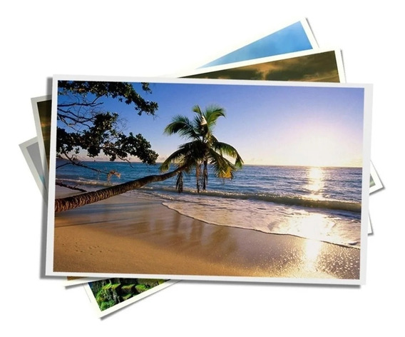 100 Fls Papel Fotográfico A6 Glossy Brilho 230g 10,5x14,8 Cm