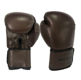 Luva De Boxe Ironarm Premium 14 Oz Old School Dark Brown
