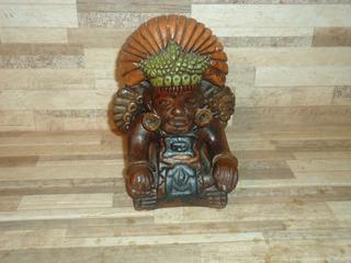 Escultura Inga Do Peru Em Cerâmica Antiga