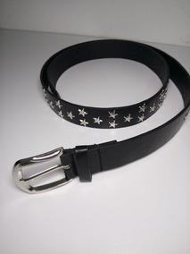 Cinturon Negro Estoperoles De Estrella Grunge Alta Moda