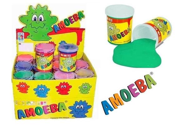 Kit 60 Massinha Amoeba Brincar Geleinha Asca Toys Brinquedos
