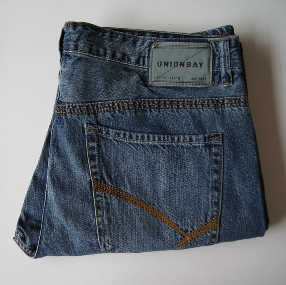 Union Bay Jeans Talla 34 X 32 Corte Straight Color Azul