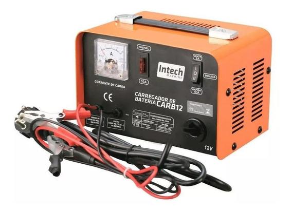Carregador De Bateria 12v 10 A 100 Amp 220v Intech Machine