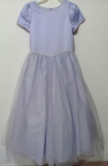 Hermoso Vestido De Fiesta De Niña Color Lila Talla 12