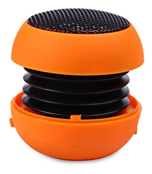 Mini Caixa De Som Portátil Hamburger Speaker Cor Laranja