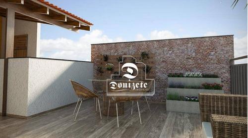 Cobertura Com 2 Dormitórios À Venda, 58 M² Por R$ 275.000,00 - Jardim Utinga - Santo André/sp - Co11761