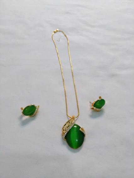 Conjunto Colar E Brinco (bijuteria Fina) N.40