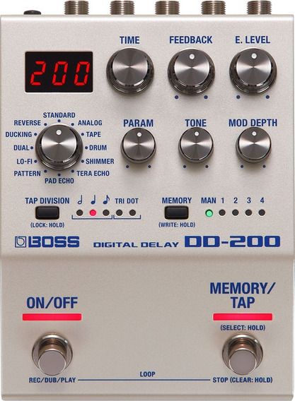 Pedal Para Guitarra Boss Digital Delay Dd200