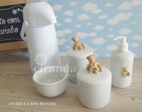 Kit Higiene Bebe Porcelana Gel Algodao Cotonete Termica