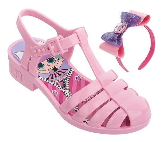 Sandália Infantil Lol Laço Mania - Rosa