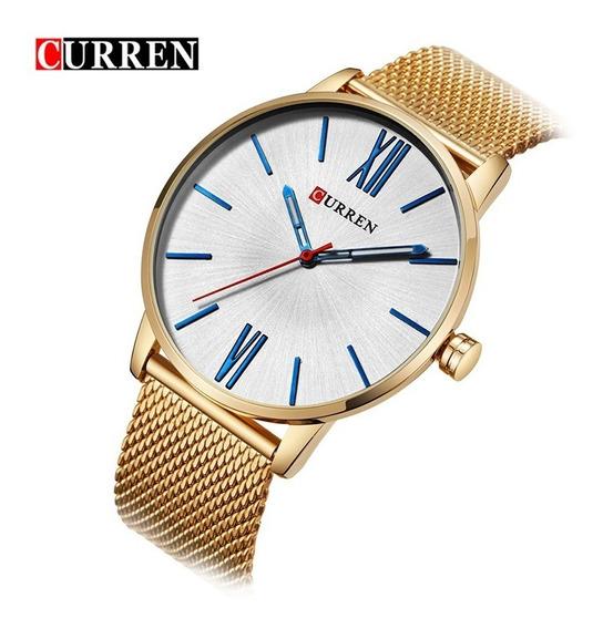 Reloj Curren 8238 Blanco Casual Original + Estuche + Envío