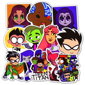 Teen Titan 50 Calcomanias Stickers Pvc Contra Agua Y Sol