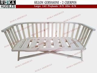 Sillon 2 Cuerpos Gervasoni Reforzado Pino Roka