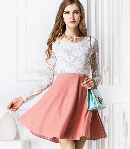 Vestido Con Encaje Blanco Talla S Nuevo Importado En Stock