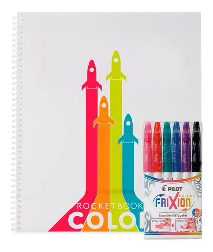 Cuaderno Rocketbook Reutilizable Color Mas Rotuladores