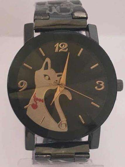 Relógio Gatinho Estiloso Feminino Promoção