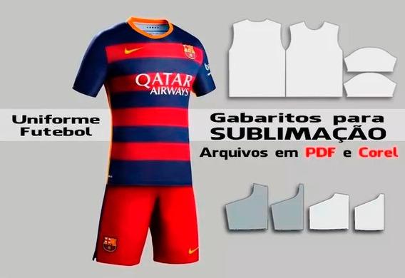 Gabarito Sublimação Moldes Uniforme Futebol - Camiseta Short