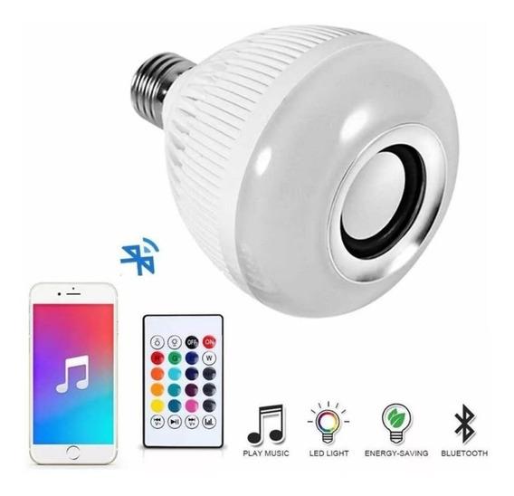 Imperdível Lampada Luz Led Rgb Bluetooth Caixa Som Musical