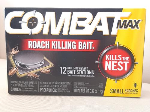 Combat Veneno Para Chiripas Cucarachas Incluye 12 Estaciones