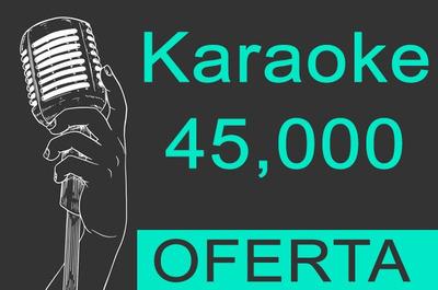 45,900 Karaokes Cdg+mp3 En Español