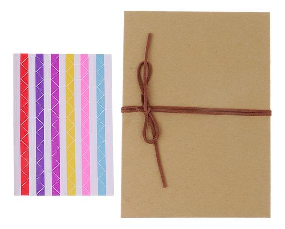Álbum De Fotos Kraft Paper Scrapbook 16 Páginas, Estilo Dobr