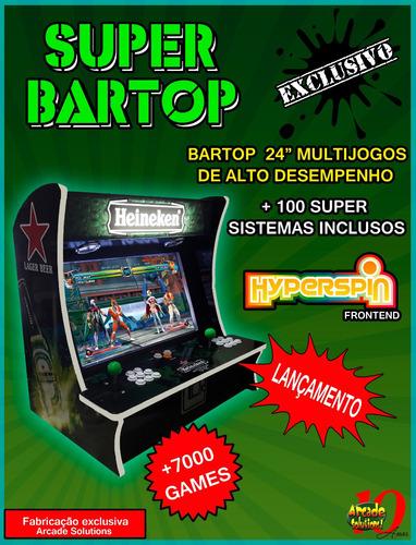 Fliperama Bartop 24  Super Completo!...110 Sistemas!
