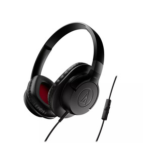 Fone De Ouvido Com Mic Audiotechnica Overear Athax1isbk