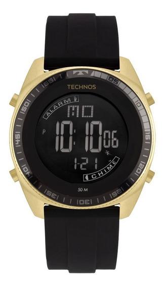 Relógio Technos Masculino Racer Bj3373ac/8p Dourado Negativo