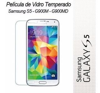 Película Vidro Temperado Galaxy S5 G900m G900md I9600 Escudo