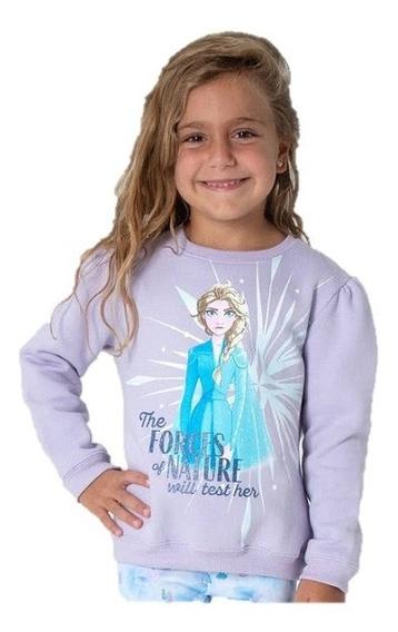 Buzo Frizado Frozen Princesa Elsa Disney Nature Niña