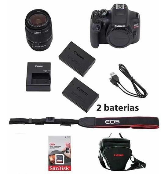 Câmera Canon Sl2 Ef-s 18-55mm+ 64gb+ Tripe+ Bolsa+ Bateria