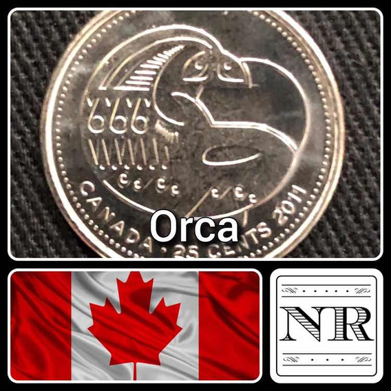 Canada - 25 Cents - Año 2011 - Km 1170 - Orca Estilizada