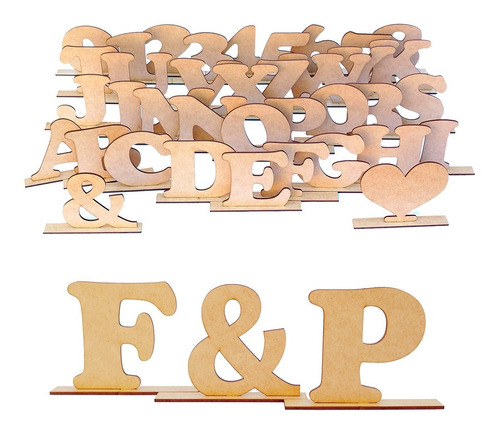 10 Letras Decorativas Mdf Crú Aniversário Alfabeto Enfeite
