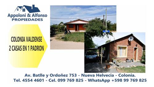 2 Casas En 1 Padron - Colonia Valdense
