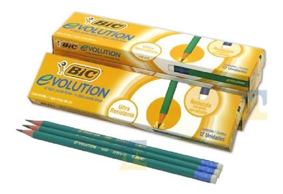Lapiz Bic Evolution Grafito Caj*12 (pack X72)