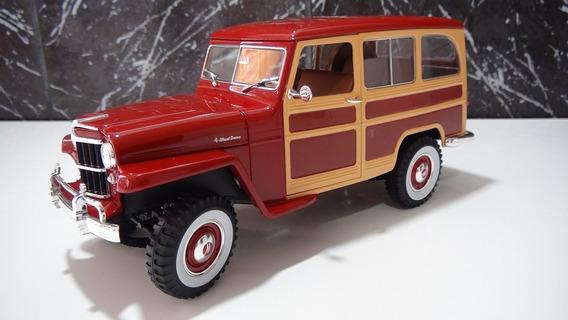Ford Rural Willys Ano 1955 Cor Marron Esc 1:18 Marca Lucky