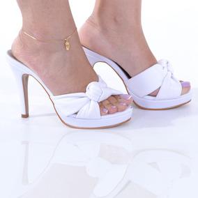 c4b332dd6e Tamanco Feminino Mega Confortável Up Shoes Salto Alto R  700