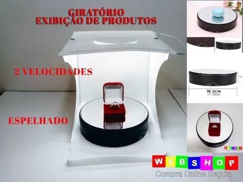 Base Plataforma Giratória Eletrica Exibição Joias Fotos Vide