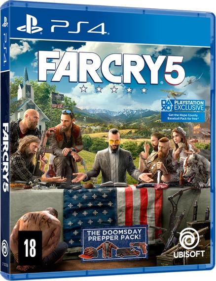 Far Cry 5 Ps4 Jogo Mídia Física Português Dublado Lacrado