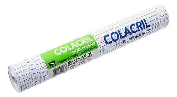 Papel Contact Transparente 45cm X 25m Colacril