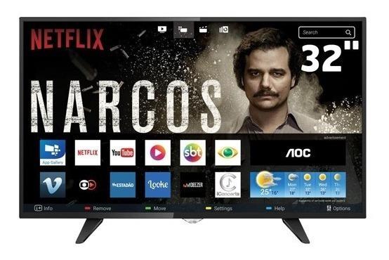 Smart Tv Aoc Led 32 Polegadas Hd Le32s5970s Wifi Hdmi Usb